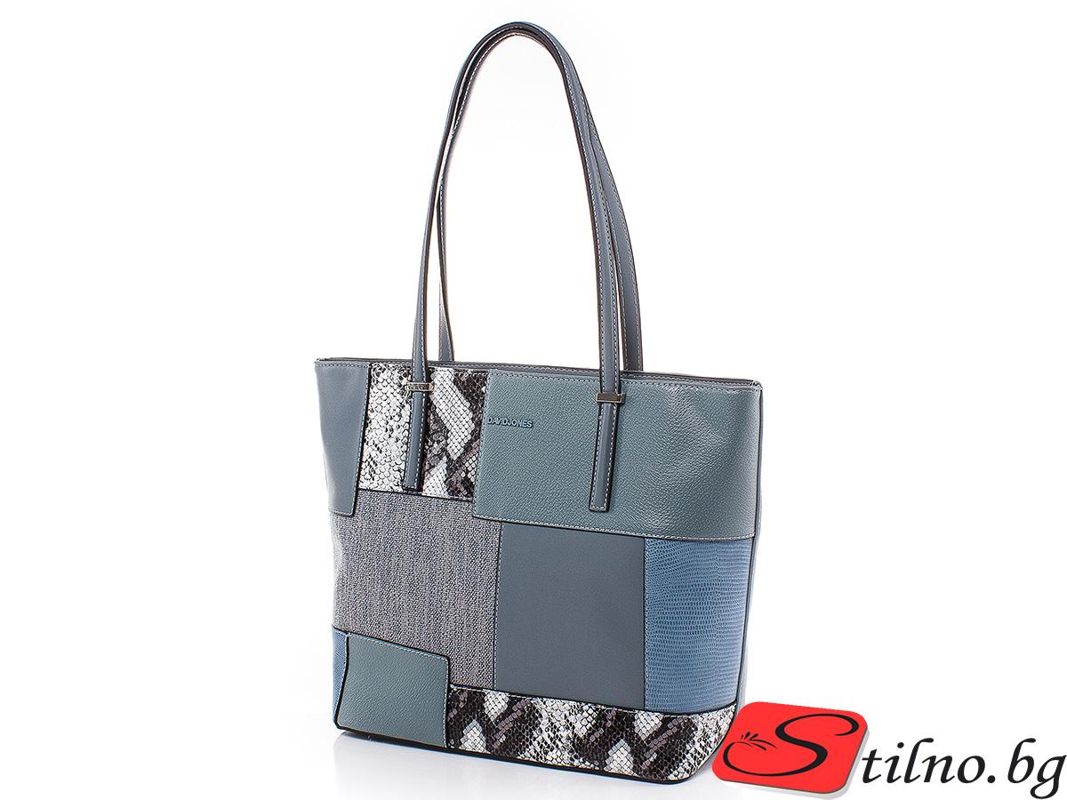 Дамска чанта David Jones 6279-204 - Синя