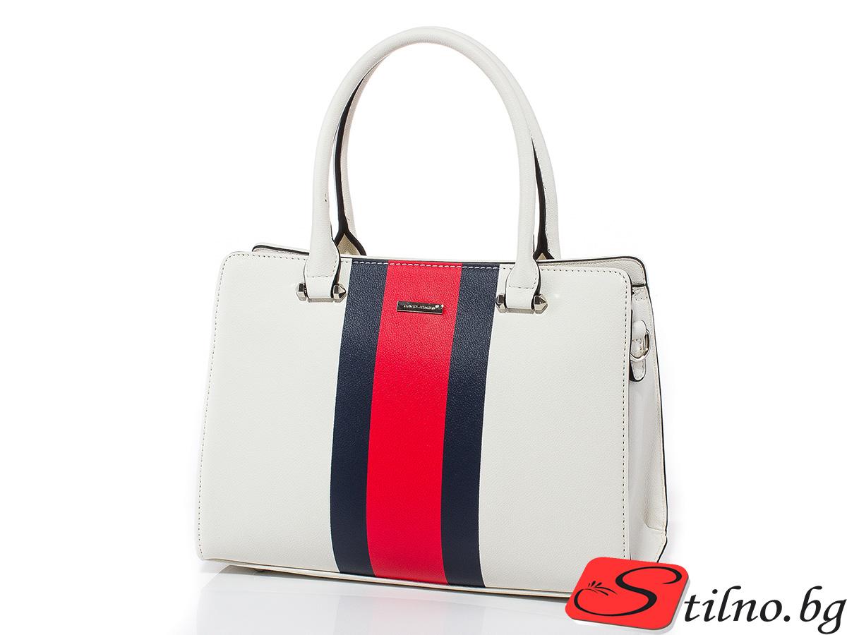 Дамска чанта David Jones 6000-201- Бяла