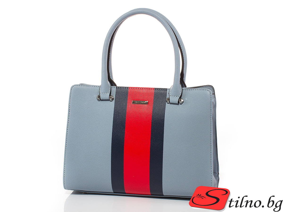 Дамска чанта David Jones 6000-250 - Бледосиня