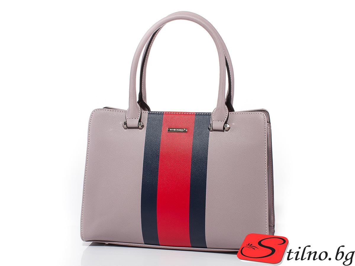 Дамска чанта David Jones 6000-255 - Бледолилава