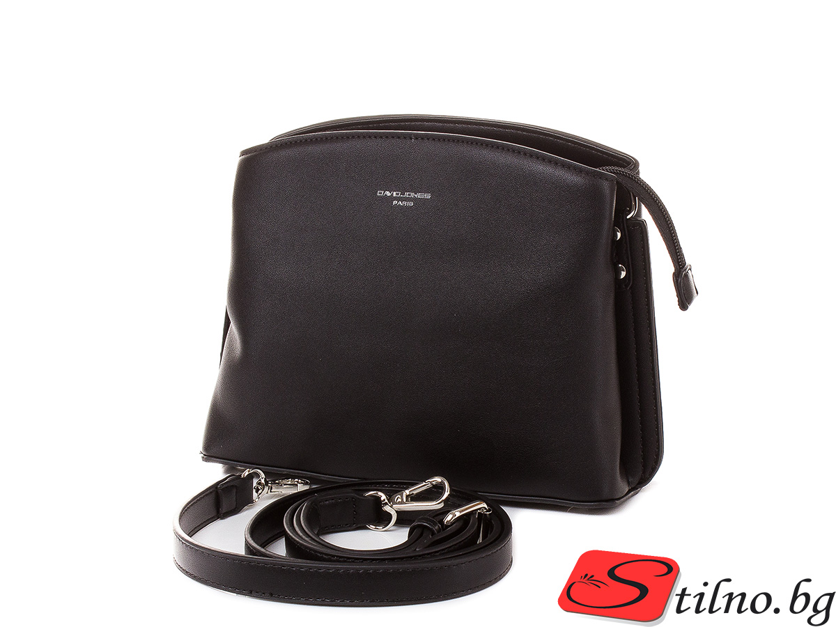 Дамска чанта през рамо David Jones 6308-108 - Черен