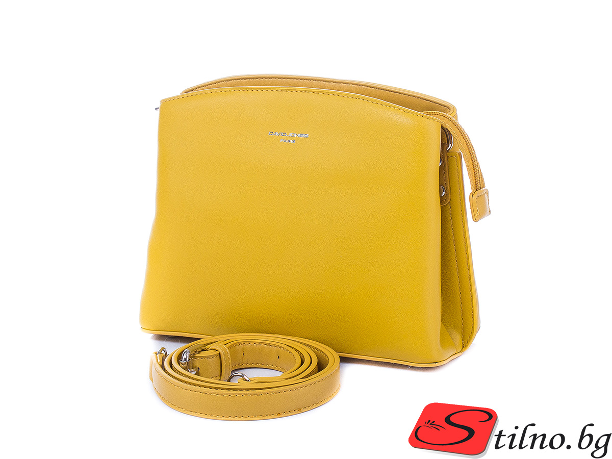 Дамска чанта през рамо David Jones 6308-113 - Жълт