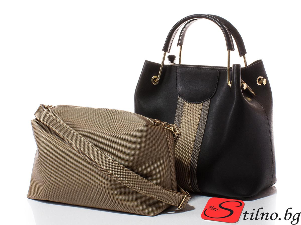 Дамска чанта Лора 1598-08 - Черна