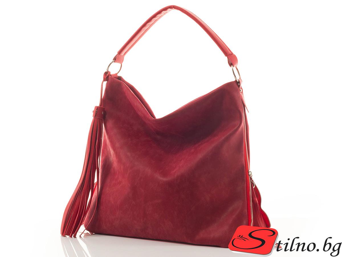Дамска Чанта Дили 1349-05 - Червена