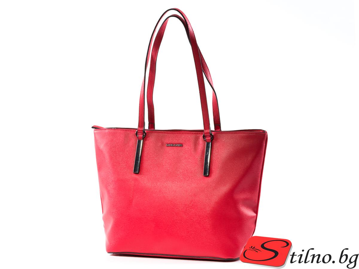 Дамска Чанта David Jones 1367-05 - Червена