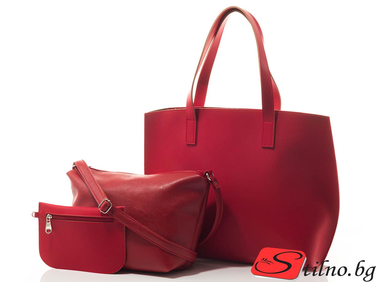 Дамска чанта 3в1 Софи 1519-05 - Червена