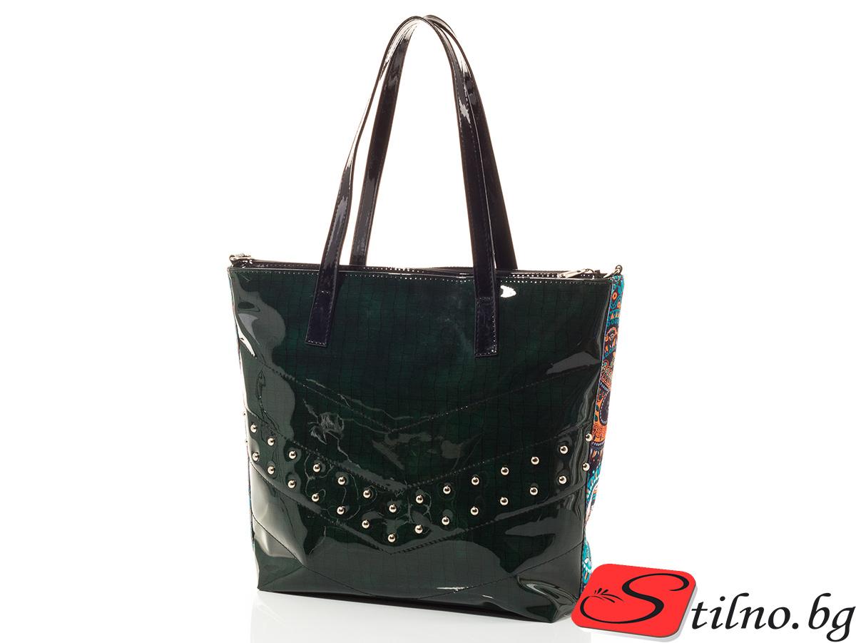 Дамска чанта Диана 1540-42 - Тъмно зелена