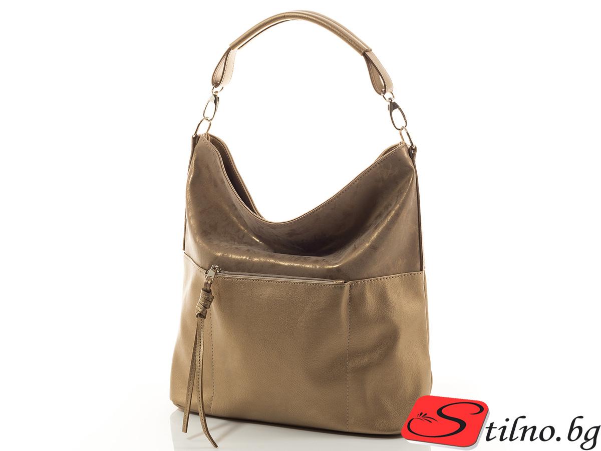 Дамска чанта Женя 1552-12 - Златиста