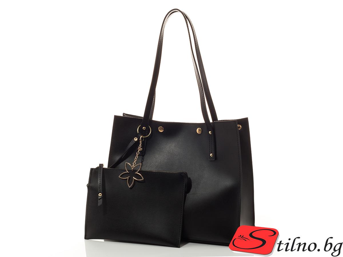 Дамска чанта Калия - 1560-08 - Черна