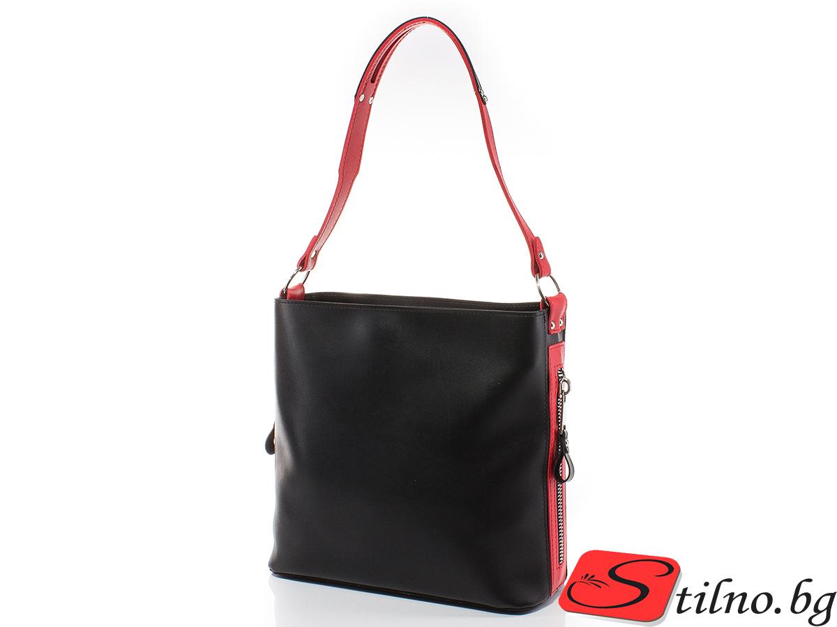 Дамска чанта Грета 1563-0805 - Черен/Червен