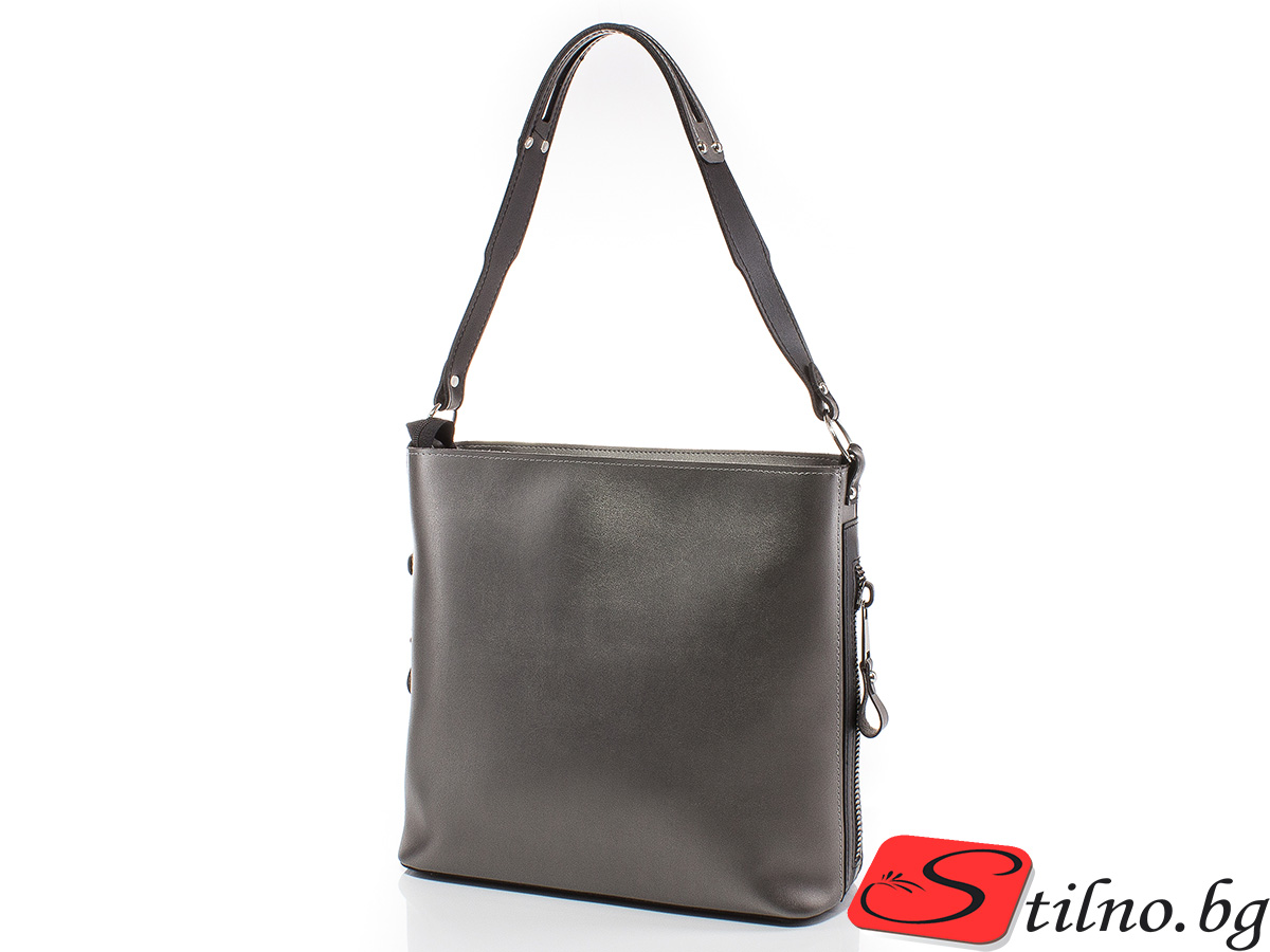 Дамска чанта Грета 1563-47 - Тъмно сребро