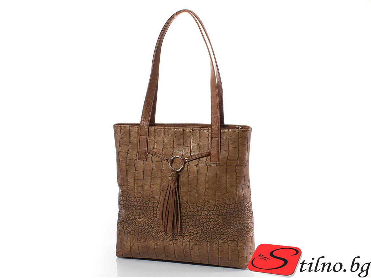 Дамска чанта Дора 1566-10 - Камел