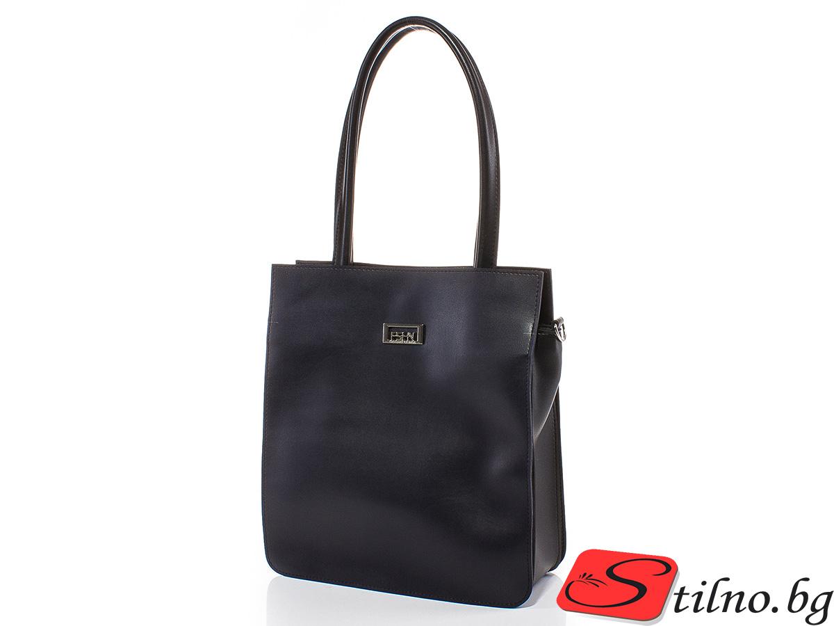 Дамска чанта Искра 1579-2408 - Тъмносин/Черен
