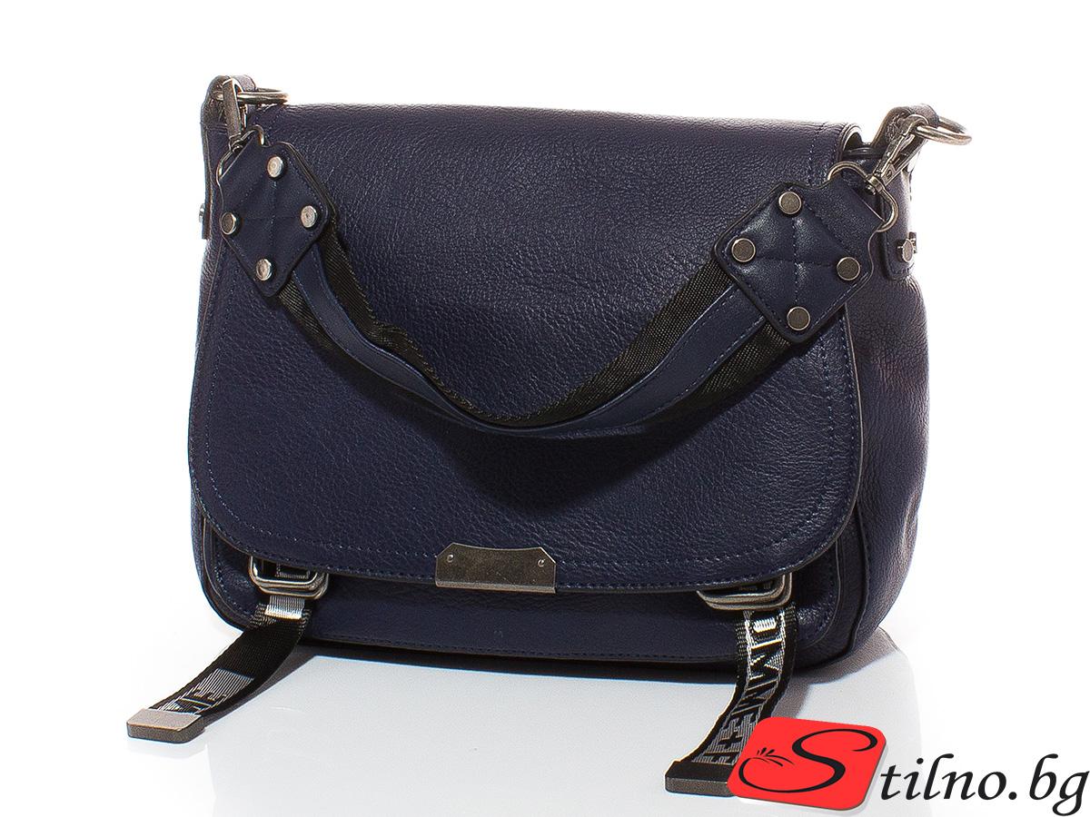 Дамска чанта Елиза 1605-24 - Тъмносиня