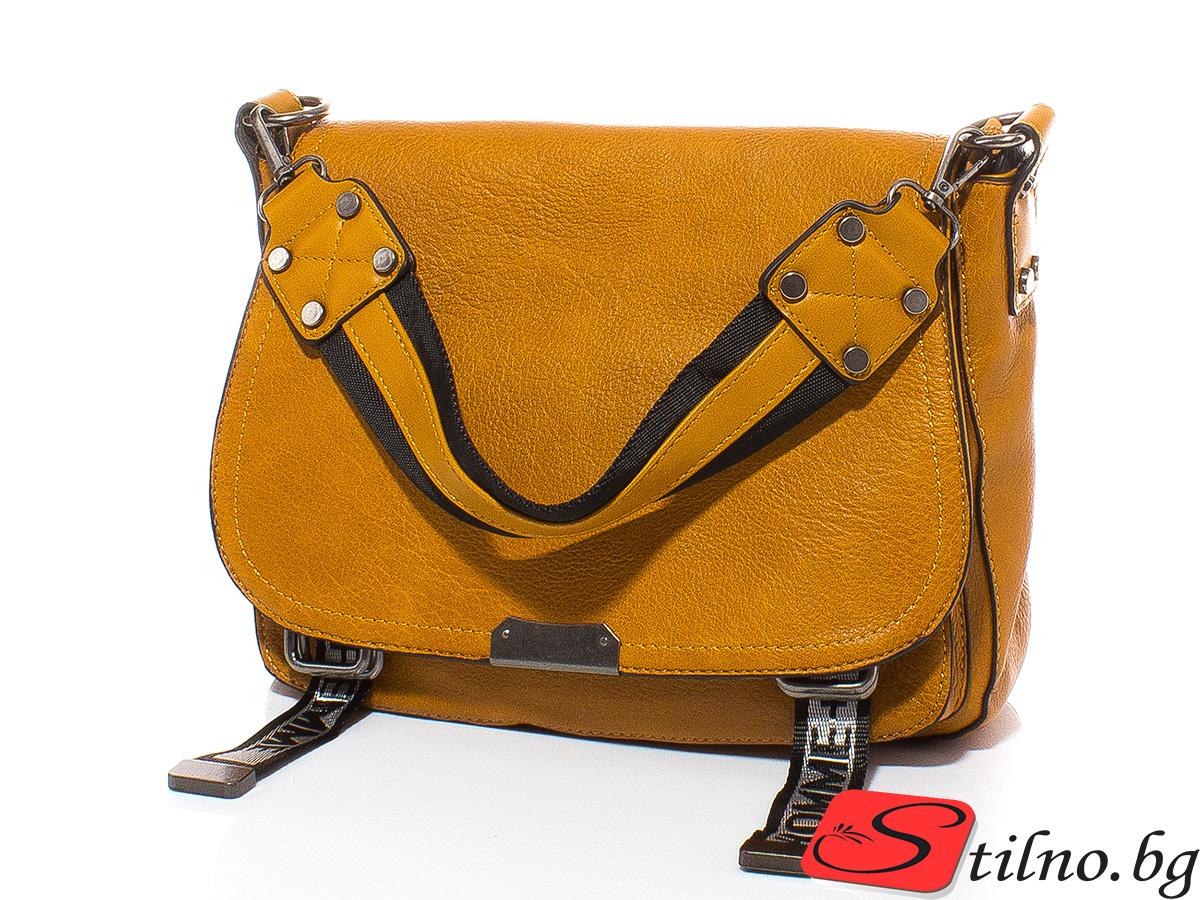 Дамска чанта Елиза 1605-49 - Горчица