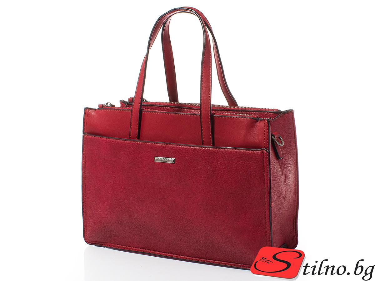 Дамска чанта Лили 1606-05 - Червена