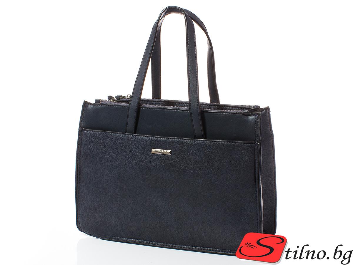 Дамска чанта Лили 1606-24 - Тъмносиня