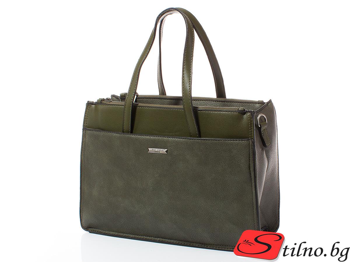 Дамска чанта Лили 1606-42 - Тъмнозелена