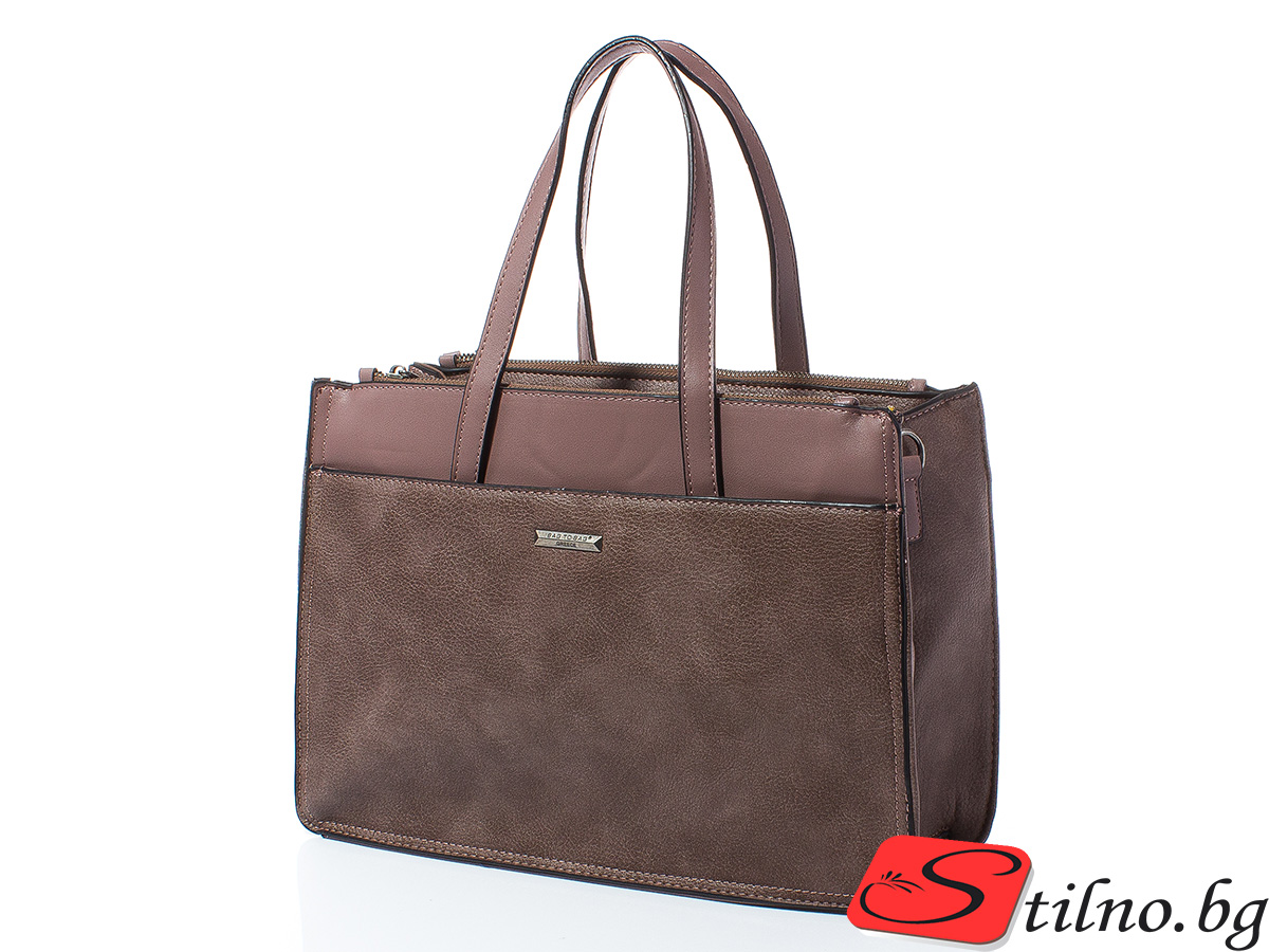 Дамска чанта Лили 1606-45 - Тъмнорозова