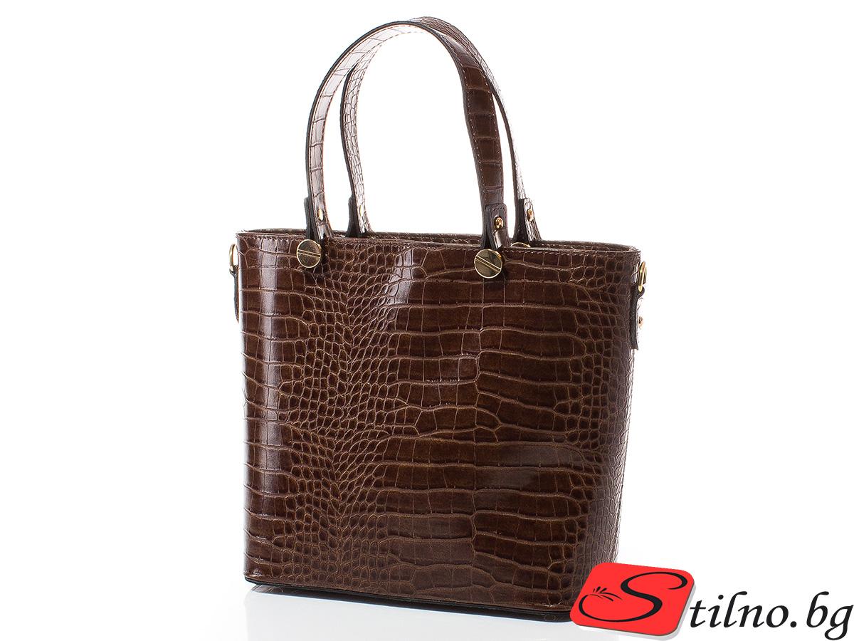Дамска чанта Магда 1610-15 - Тъмнокафява
