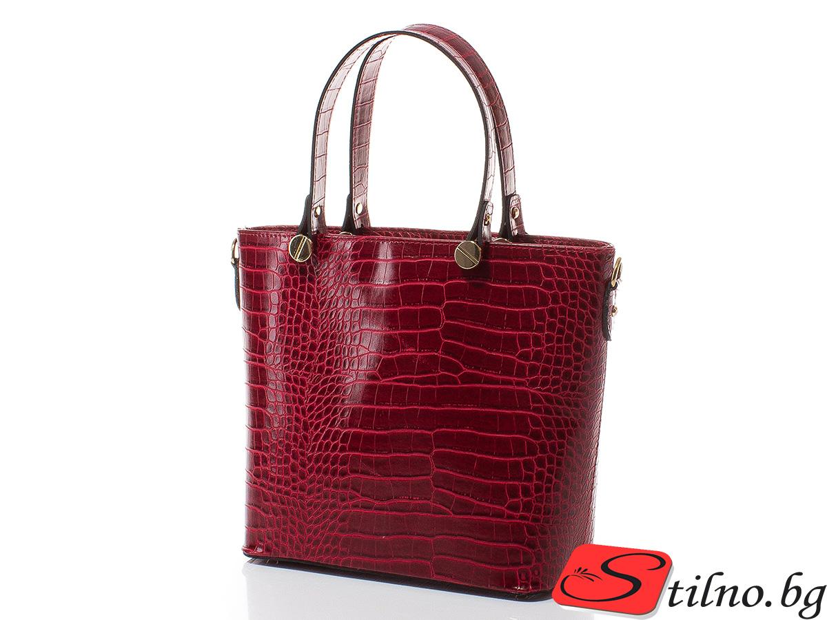 Дамска чанта Магда 1610-40 - Тъмночервена