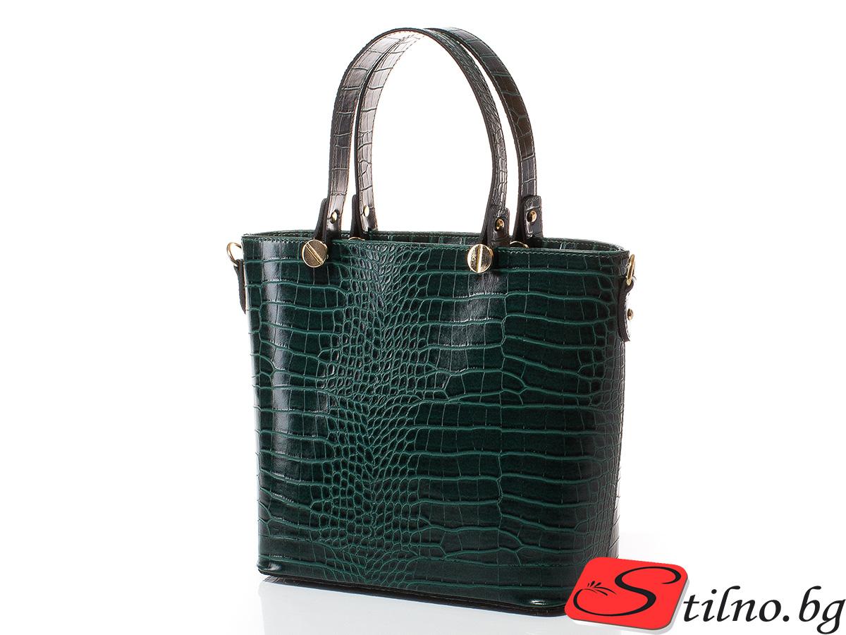 Дамска чанта Магда 1610-42 - Тъмнозелена