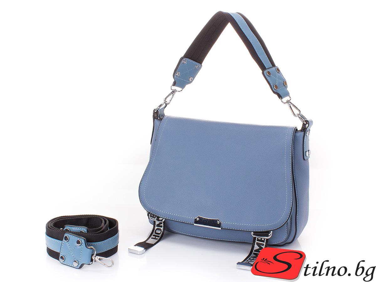 Дамска Чанта Ива 1652-04 - Синя