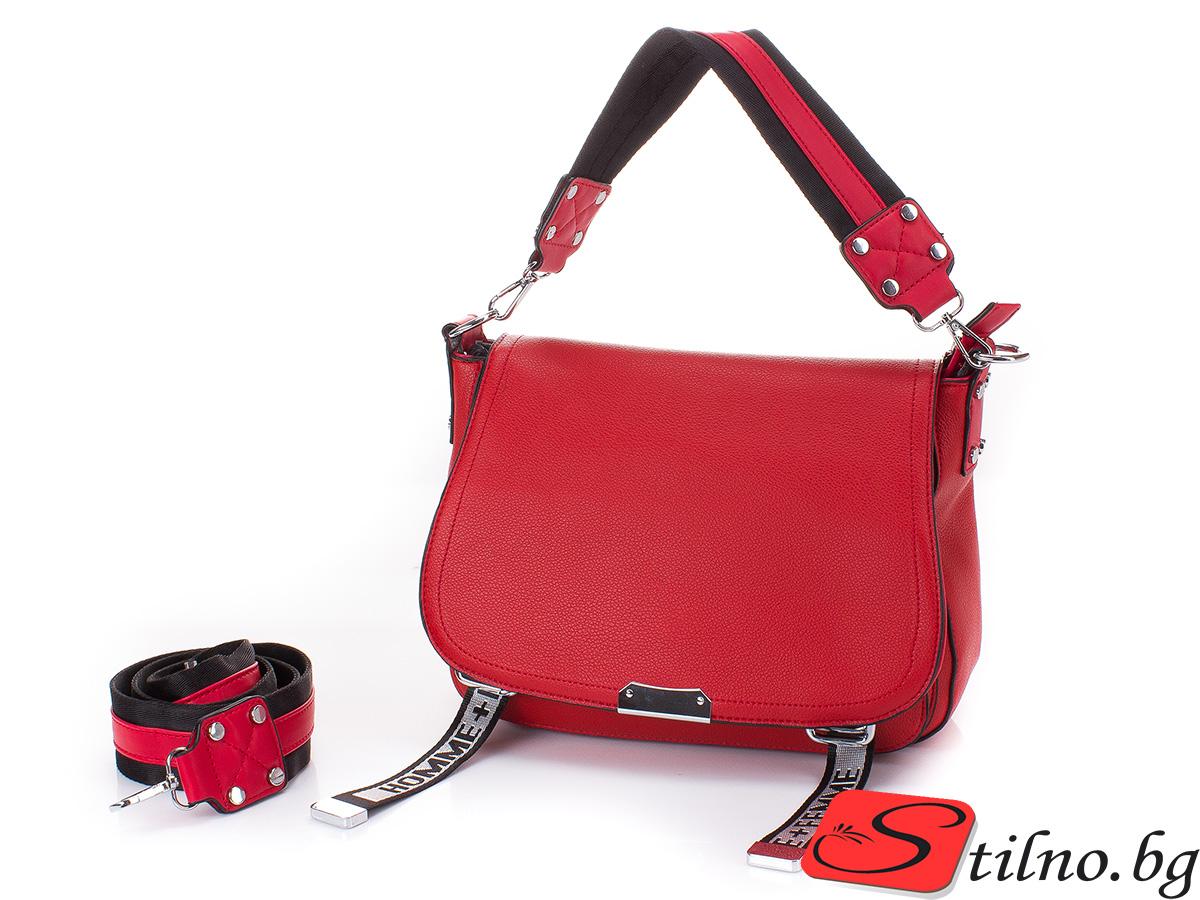 Дамска Чанта Ива 1652-05 - Червена