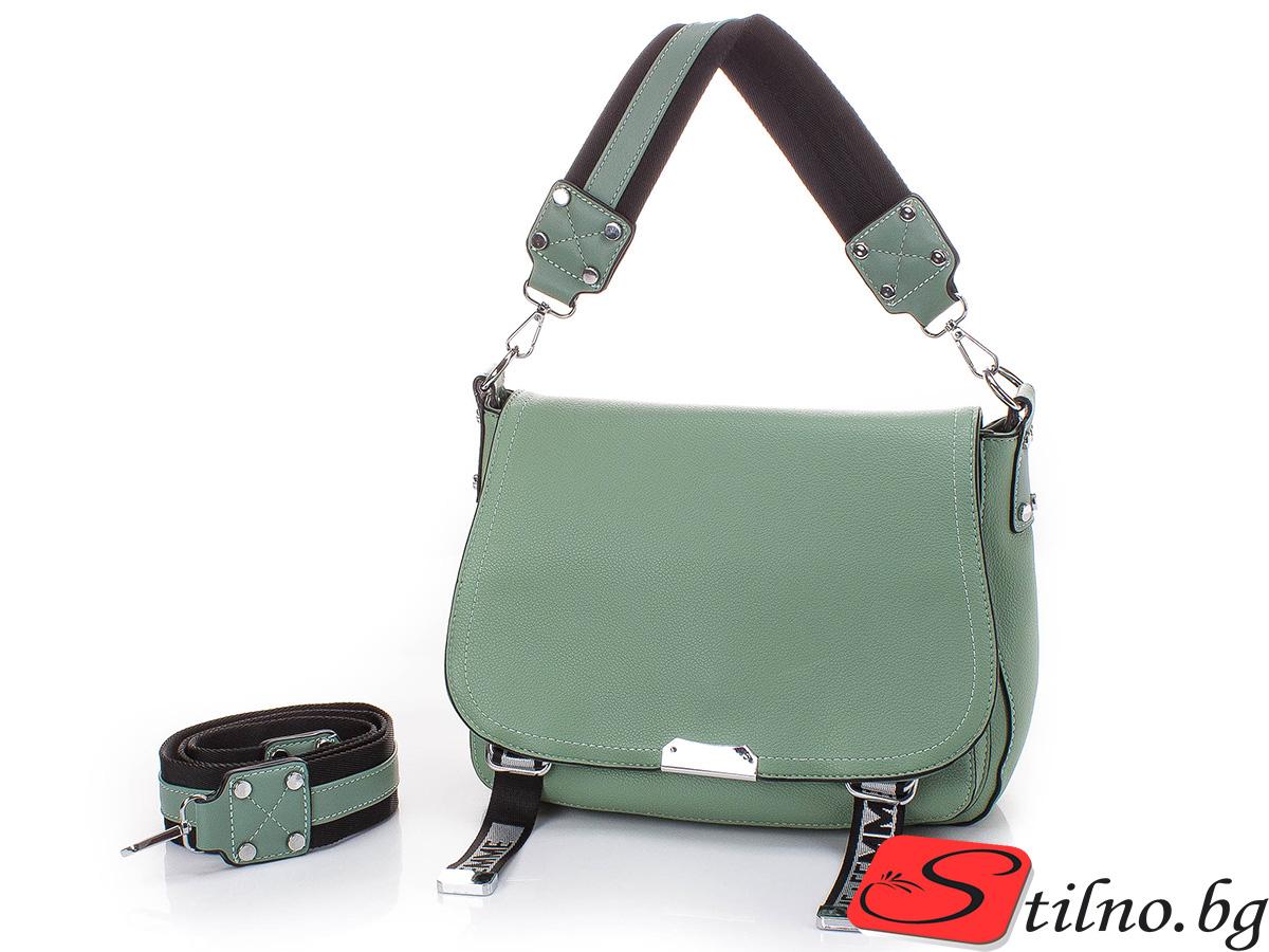 Дамска Чанта Ива 1652-09 - Зелена