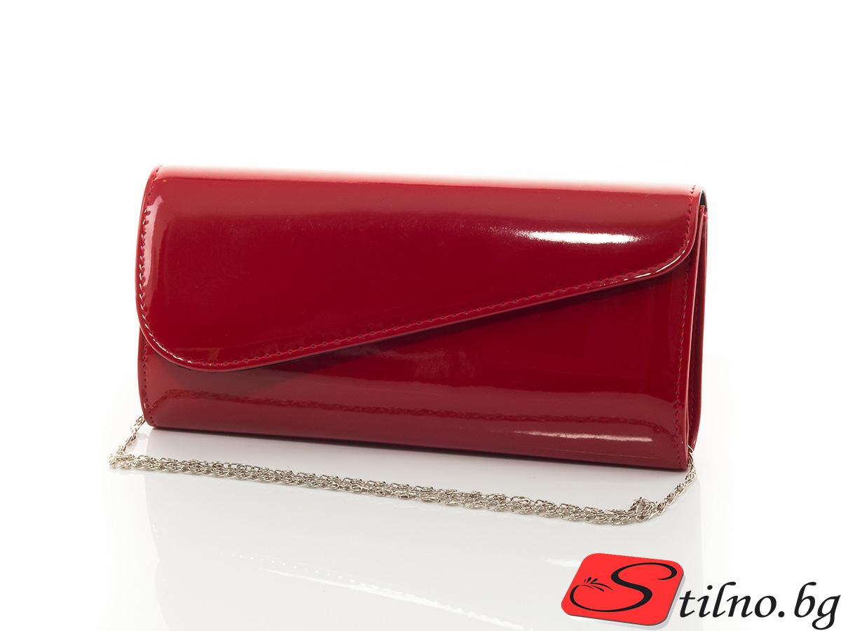 Дамска Официална Чанта Кейт Лак 1510-05 - Червена