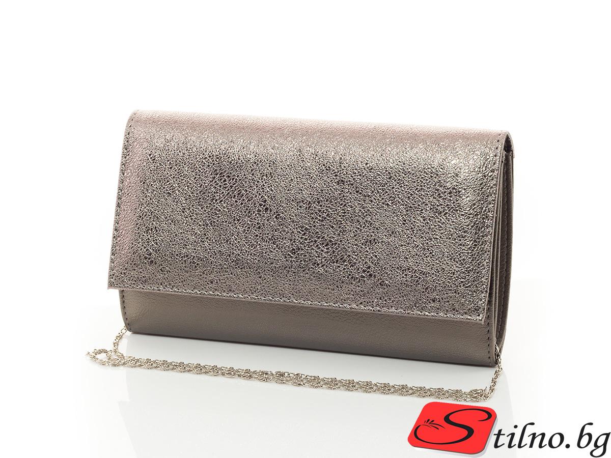 Дамска Официална Чанта Кари 1512-47 - Тъмно сребро