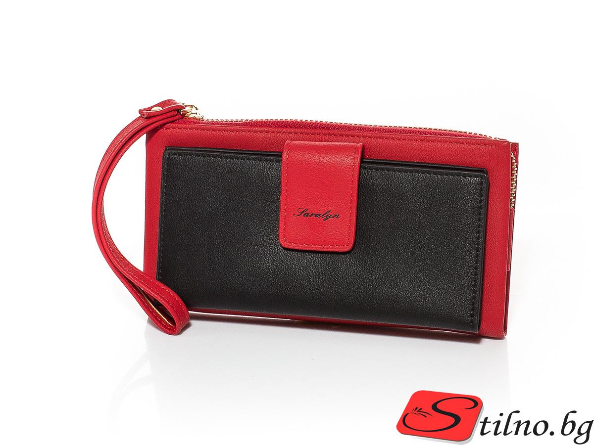 Дамско Портмоне Еко кожа А1045-05 - Червено