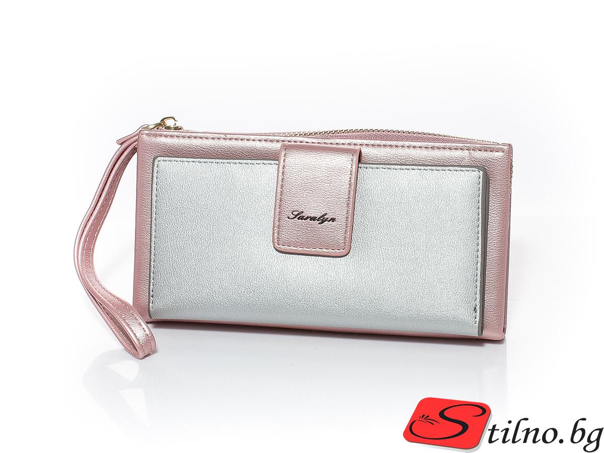 Дамско Портмоне Еко кожа А1045-07 - Розово