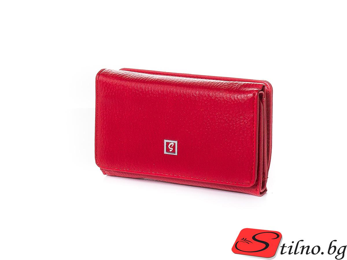 Дамско Портмоне Еко Кожа A1050-05 - Червено