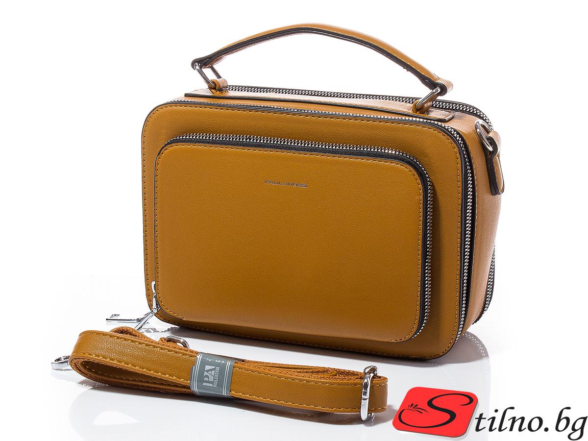 Дамска чанта през рамо Аля 1609-49 - Горчица