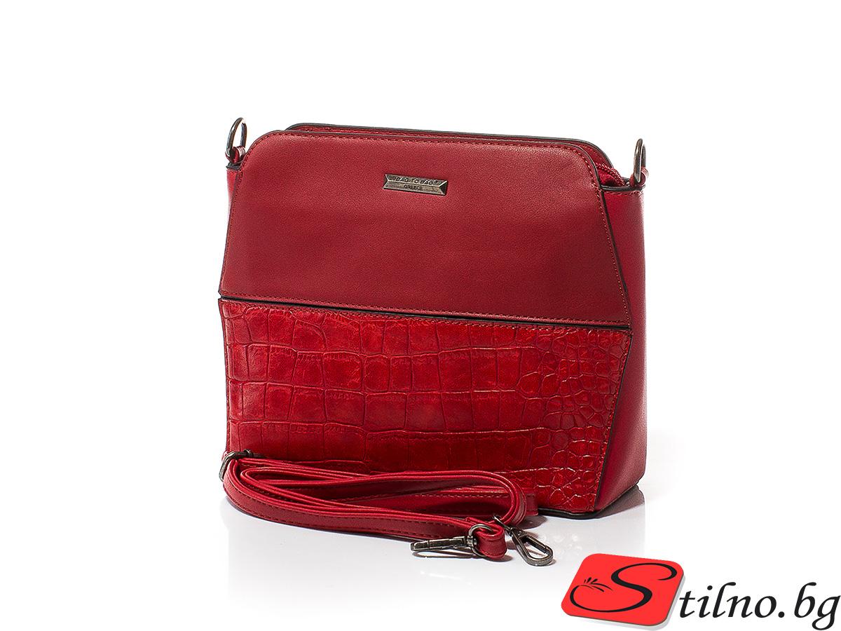 Дамска Чанта През Рамо Меги 1612-05 - Червена