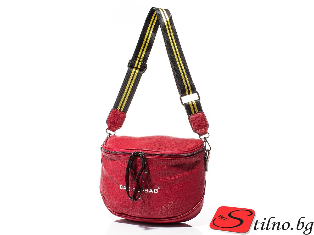 Дамска Чанта През Рамо Ели 1613-05 - Червена