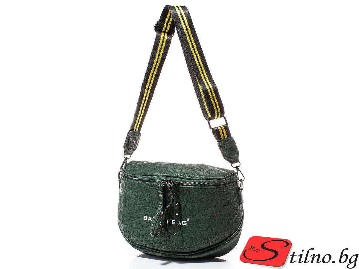 Дамска Чанта През Рамо Ели 1613-42 - Тъмнозелена