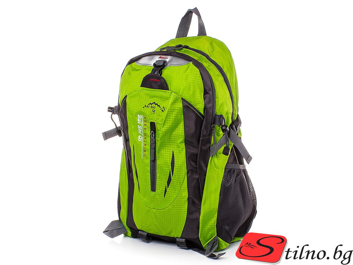 Туристическа Раница S1114-09 - Зелена