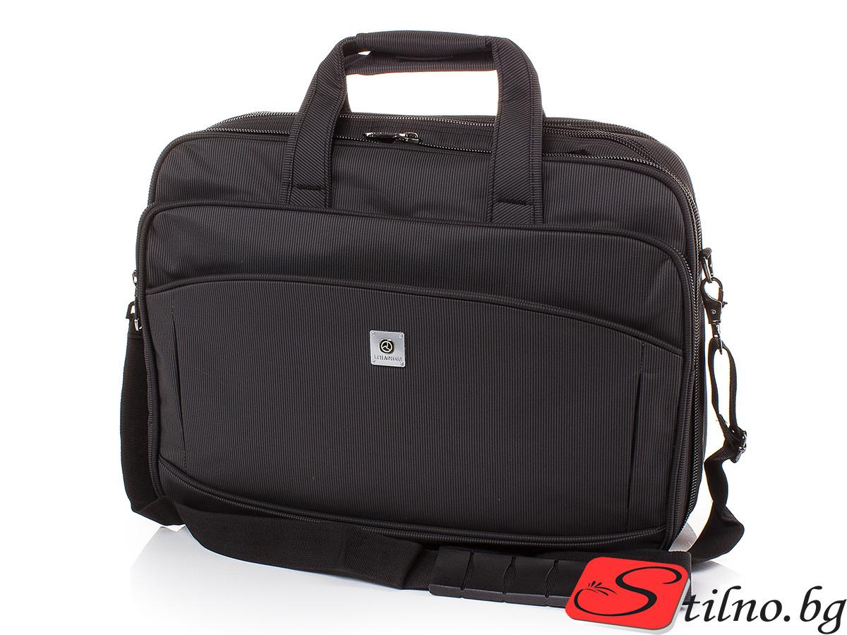 Чанта за документи и лаптоп S3008-08 - Черна