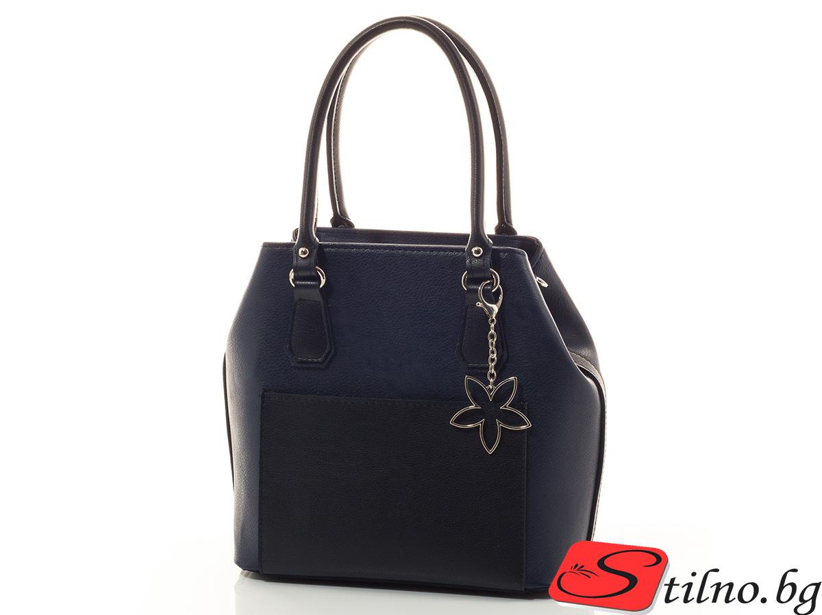 Дамска чанта Лилия 1542-24 - Тъмно синя