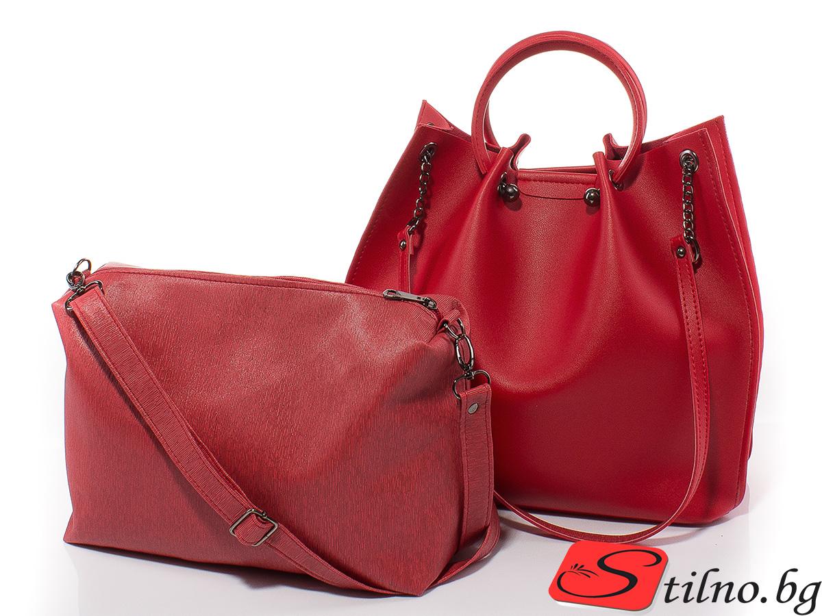 Дамска чанта Дебора 1561-05 - Червена