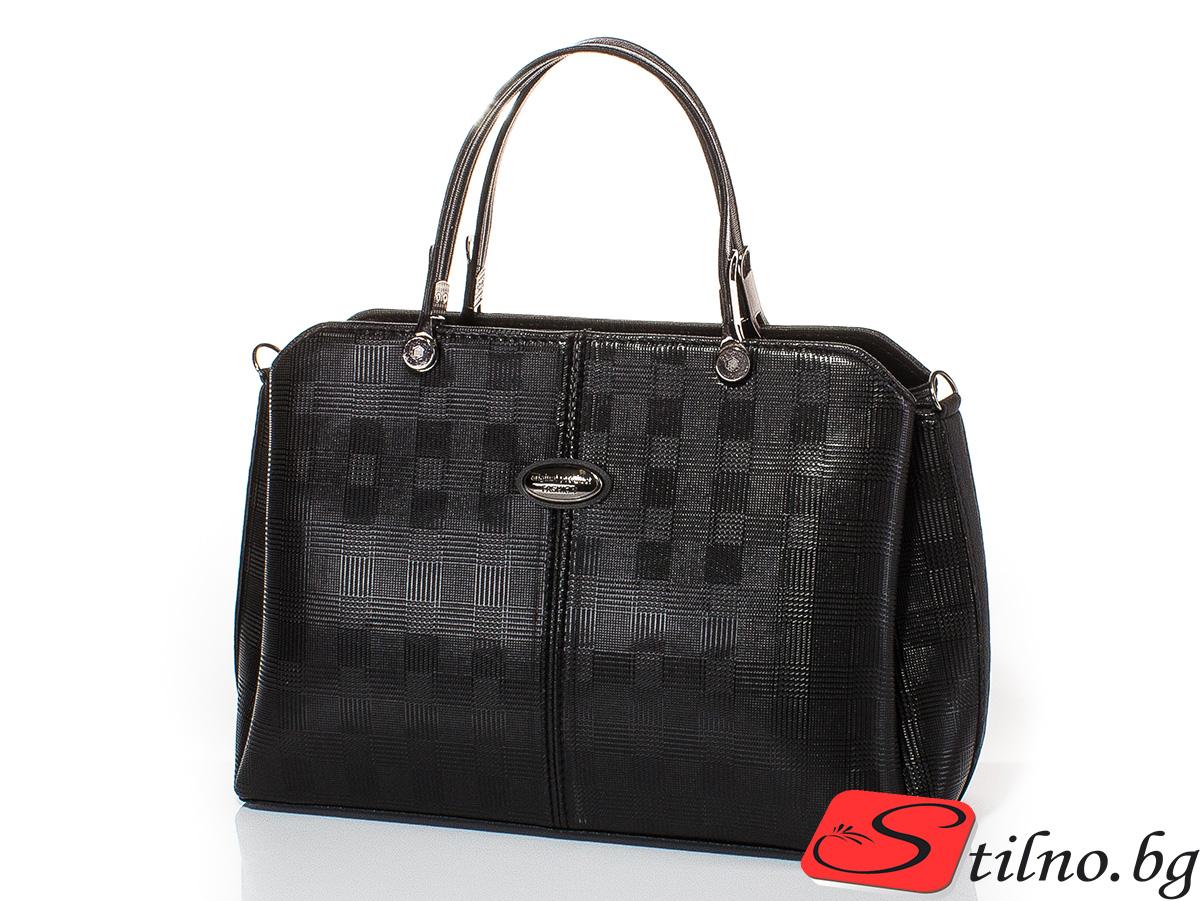 Дамска чанта Ваня 1596-08 - Черна
