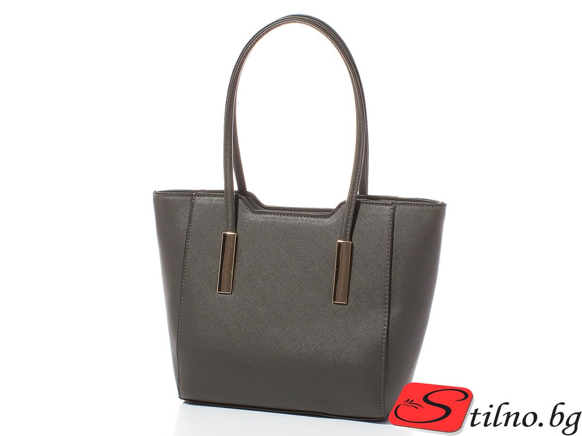Дамска чанта Лорен Малка 1607S-34 - Тъмносива