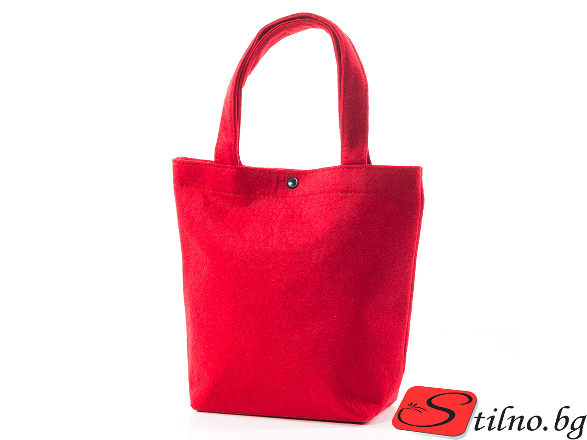 Вълнена чанта 1387-05 - Червена
