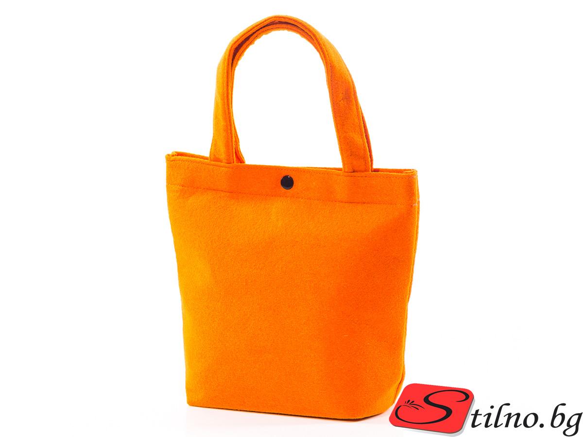 Вълнена чанта 1387-14 - Оранжева