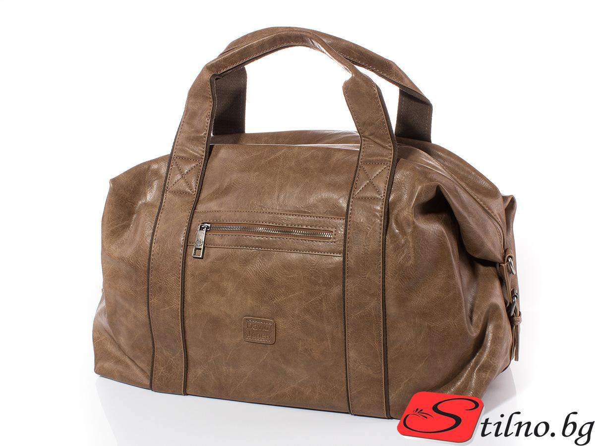 Пътна чанта David Jones CM3241-16 - Тъмно бежова
