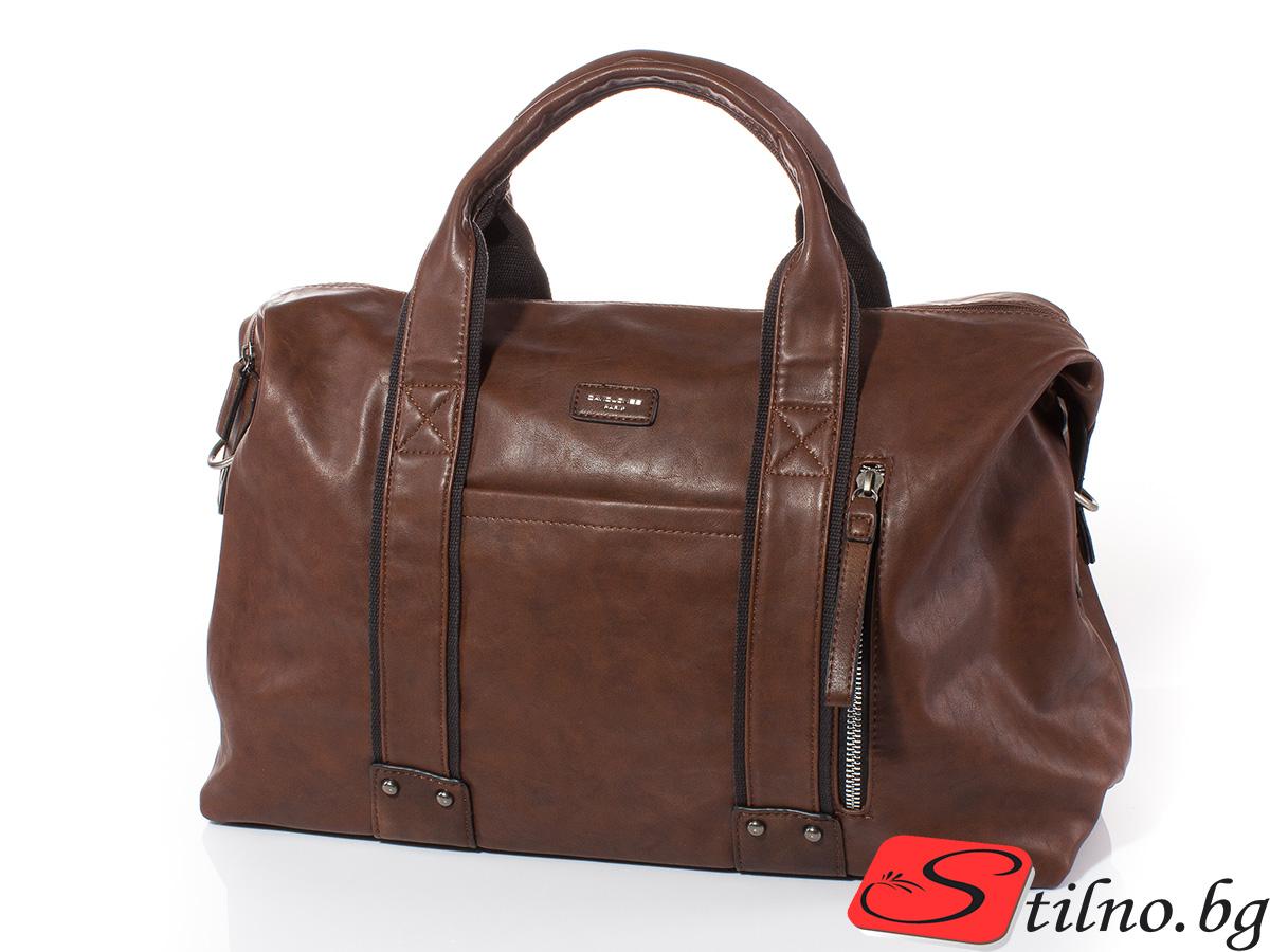 Пътна чанта David Jones CM3960-15 - Тъмно кафява