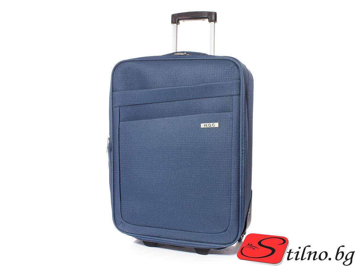 Куфар за ръчен багаж 55/37/18 T1004-04 - Син