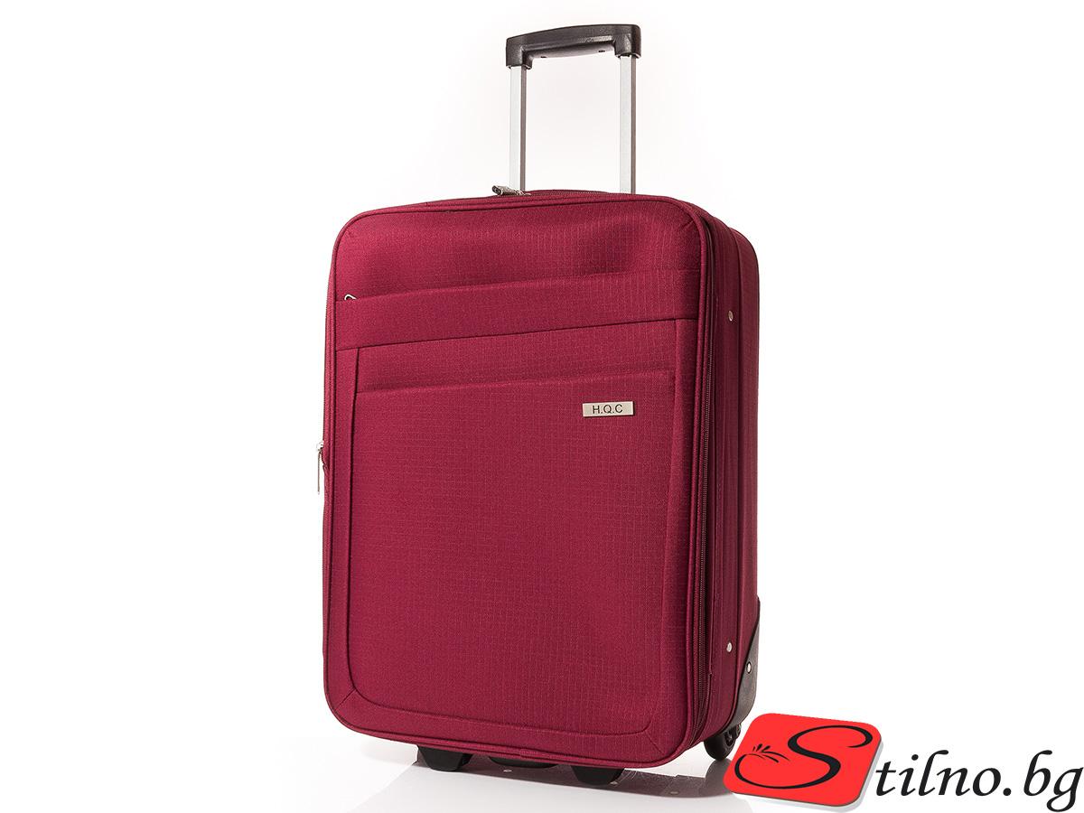 Куфар за ръчен багаж 55/37/18 T1004-40 - Тъмночервен